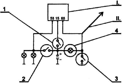Схема подсоединения контура